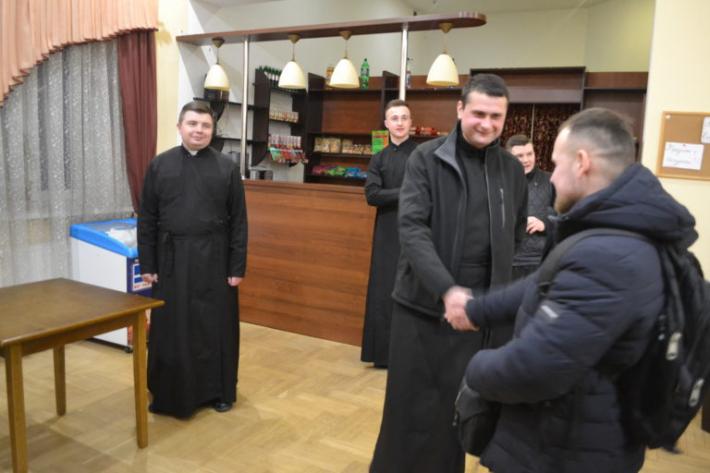 Майбутні офіцери відвідали студентів Львівської духовної семінарії Святого Духа
