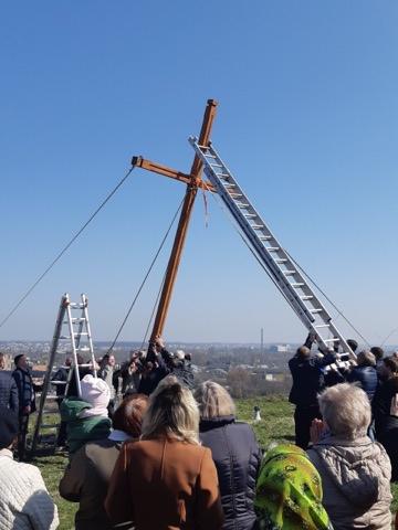 У Хрестопоклонну неділю у Львові встановили відновлений хрест