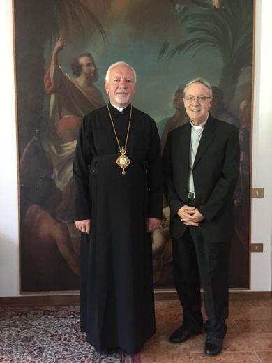 Митрополит Володимир Війтишин зустрівся з єпископом єпархії Ріміні Франциском Ламбіязі
