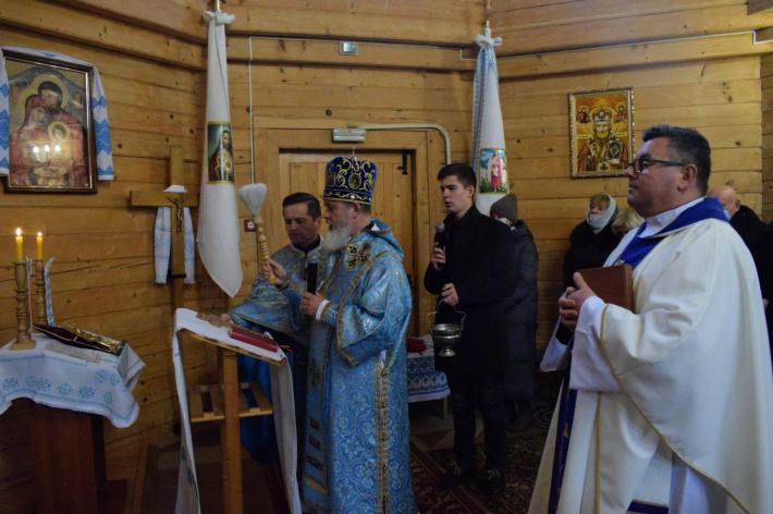 У місті Дубно Луцького екзархату освятили вівтарну частину з іконою святого Шарбеля