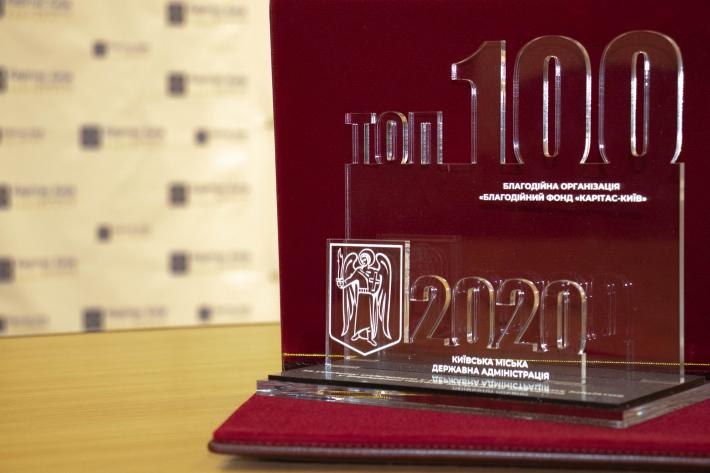 Благодійний фонд «Карітас-Київ» отримав відзнаку «ТОП-100» серед найкращих проєктів громадських організацій Києва