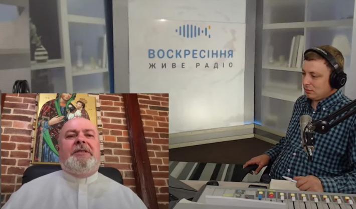 """Владика Тарас Сеньків в ефірі програми «Добра розмова» на «Живому радіо """"Воскресіння""""»"""