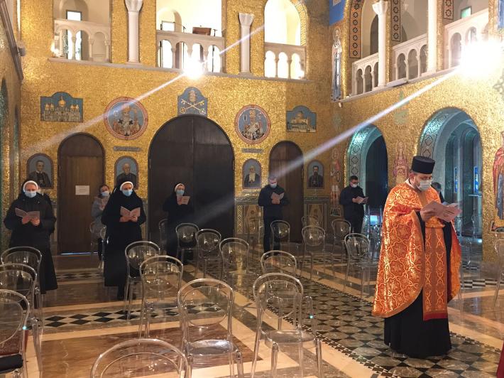 «У ці сумні дні ми молитовно поруч із Главою нашої Церкви»: в соборі Святої Софії УГКЦ у Римі помолилися за упокій п. Віри Шевчук