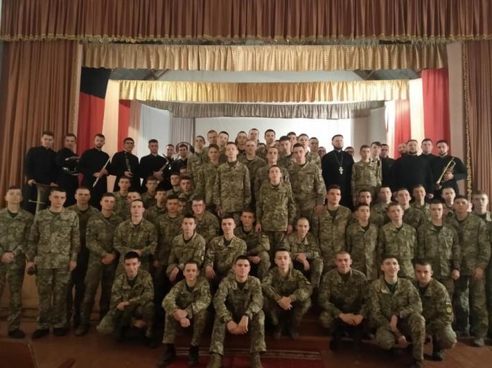Львівські семінаристи провели Розколяду у військовому ліцеї