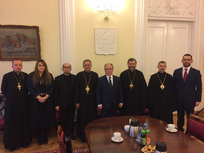 Глава УГКЦ зустрівся з керівництвом Мазовецького воєводства і Мером Варшави