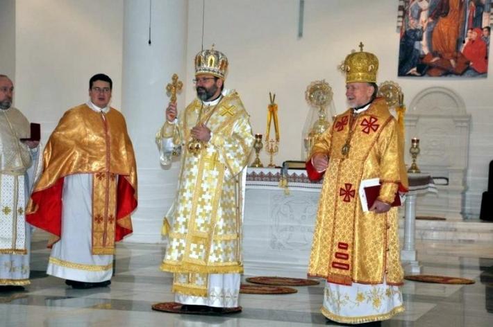 Блаженніший Святослав привітав владику Михайла (Колтуна) з 25-літтям єпископської хіротонії