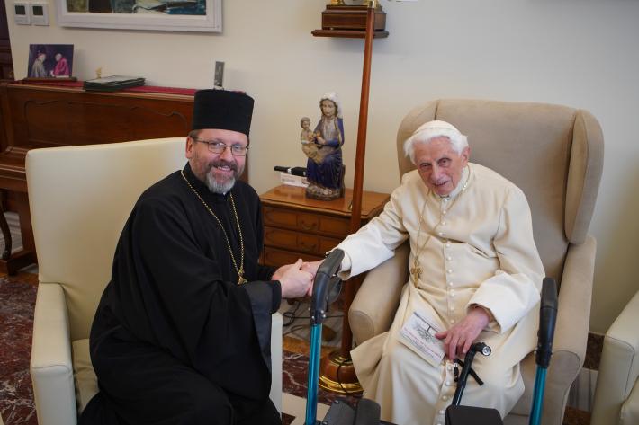Глава УГКЦ привітав папу-емерита Венедикта XVI з днем народження