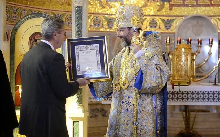 Глава УГКЦ у Римі вручив патріарші грамоти о. Семегену та п. Пріореллі