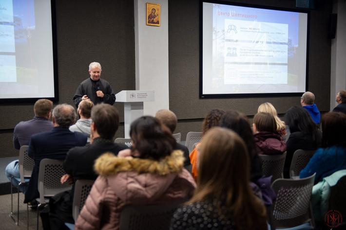Ректор о. Богдан Прах прозвітував перед спільнотою про успіхи УКУ