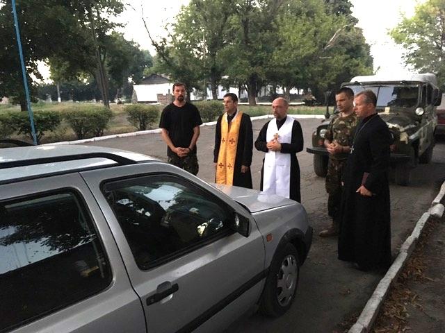 Єпископ і капелани Стрийської єпархії відвідали військових у зоні АТО