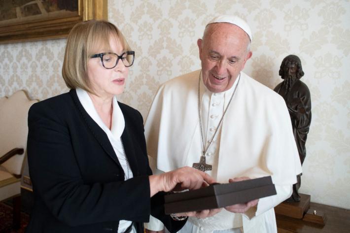 Посол України у Ватикані Тетяна Іжевська говорила з Папою про УКУ
