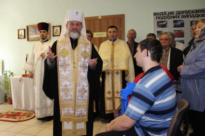 Митрополит Ігор (Возьняк) відвідав Центр комплексної реабілітації осіб з інвалідністю «Галичина»