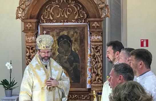 """Блаженніший Святослав у Вишгороді: """"Ми зараз стоїмо перед цією іконою в дуже особливий момент нашої історії"""""""