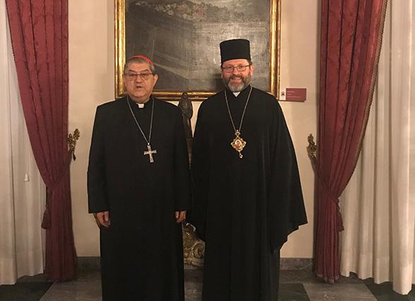 Глава УГКЦ говорив про ситуацію в Україні з кардиналом Крешенціо Сепе, Архиєпископом Неаполя