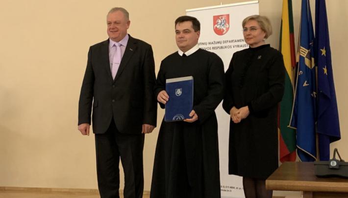 Настоятеля українського храму УГКЦ у Вільнюсі нагороджено подячним листом від прем'єр-міністра Литви