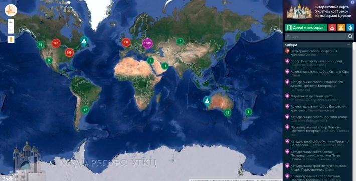 На Інтерактивну карту УГКЦ нанесено дві тисячі позначок!