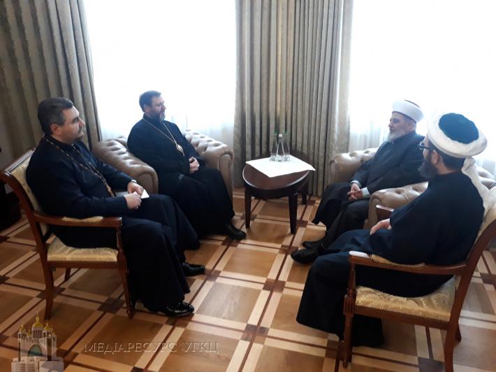 Блаженніший Святослав зустрівся з представниками Духовного управління мусульман України
