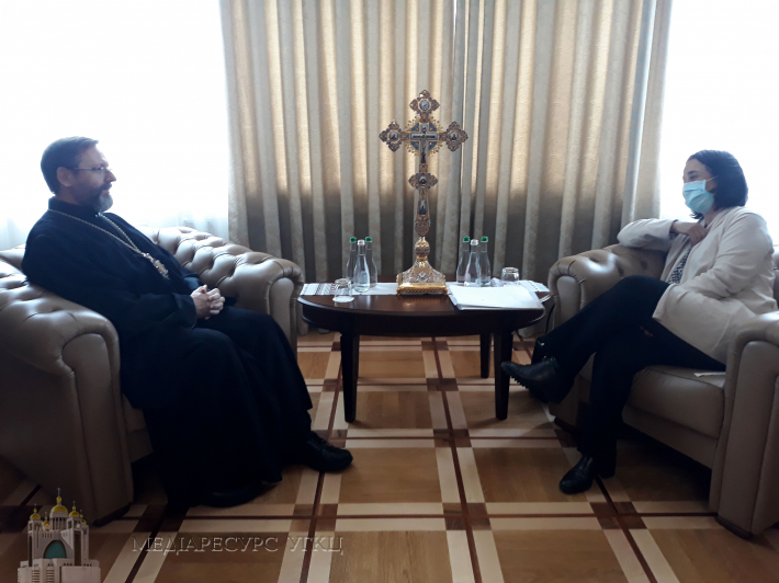 Глава УГКЦ зустрівся з Надзвичайним і Повноважним послом Іспанії в Україні