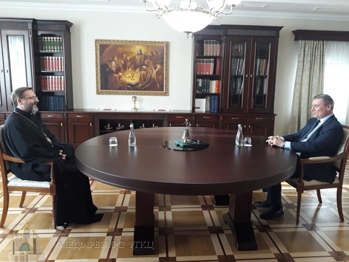 Глава УГКЦ зустрівся з міністром з  питань стратегічних галузей промисловості України
