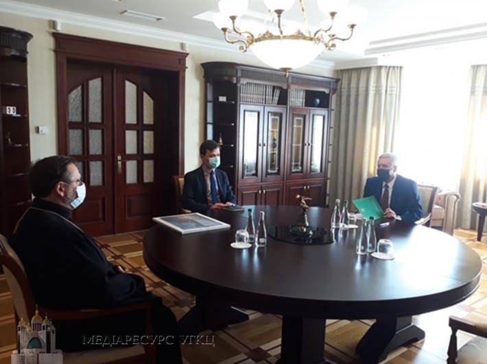 Глава УГКЦ зустрівся з новим Надзвичайним і Повноважним послом Литовської Республіки в Україні