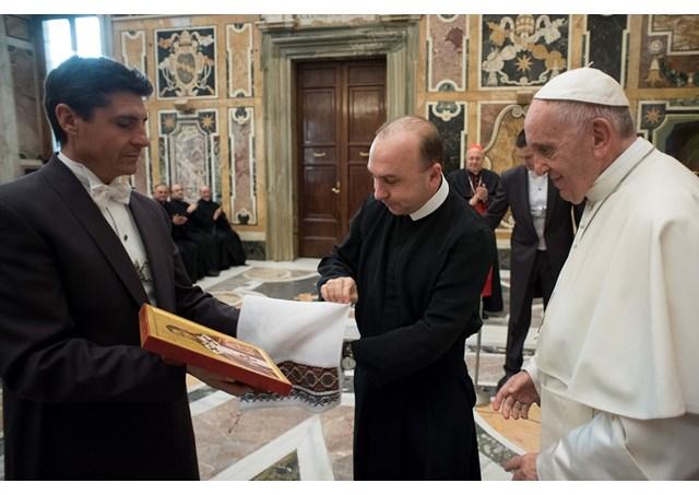 Святіший Отець прийняв спільноту та випускників Папської української колегії святого Йосафата
