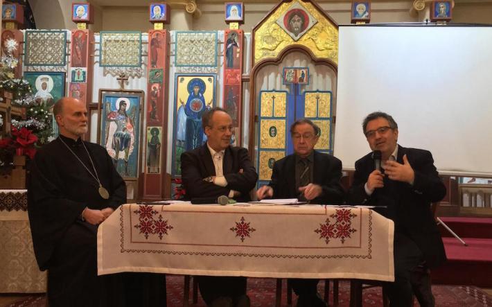 В Парижі відбувся круглий стіл з нагоди п'ятиліття проголошення єпархії Святого Володимира Великого