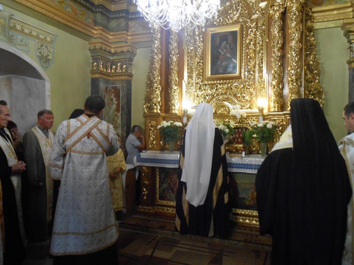 Блаженніший Святослав перед чудотворною іконою Самбірської Богородиці: «Ми не самі в наших стражданнях і бідах»