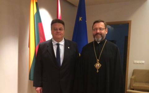 «Вільнюс тривалий час був осідком Київських митрополитів», - Глава УГКЦ на зустрічі із міністром закордонних справ Литви