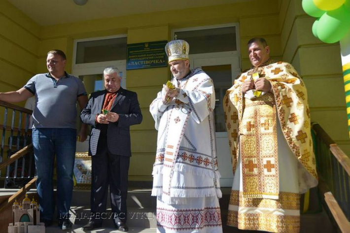 Владика Василь (Івасюк) освятив дитячий садочок у селі Поляниця