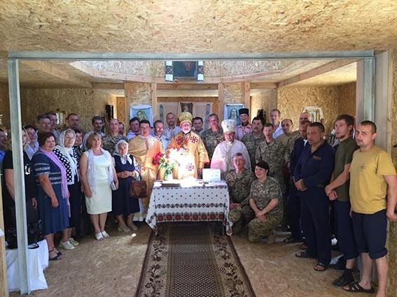 Освячення храму та відвідини капеланів і військових на сході України