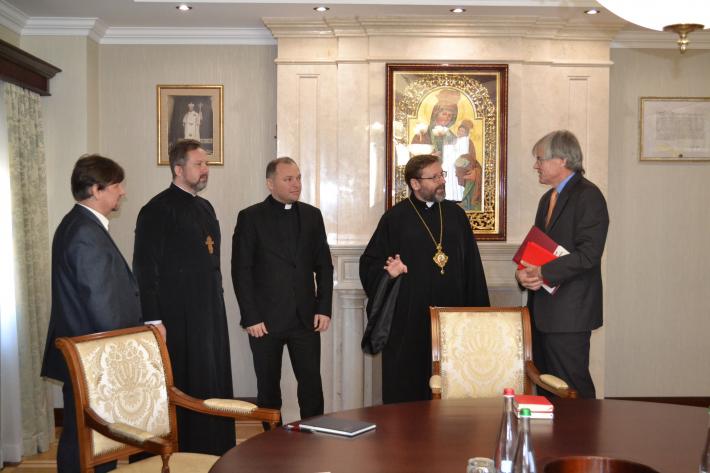 Глава УГКЦ прийняв Делегацію Міжнародного комітету Червоного хреста в Україні
