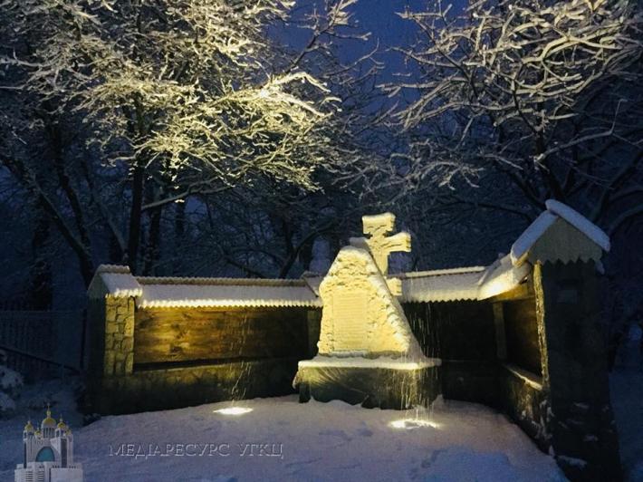 На Львівщині освятили хрест на місці спаленого монастиря, збудованого митрополитом Шептицьким