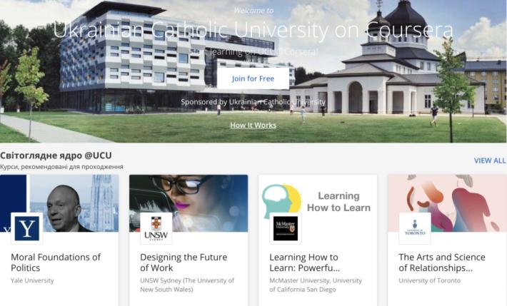 Спільнота УКУ отримала тимчасовий безкоштовний доступ до курсів Coursera