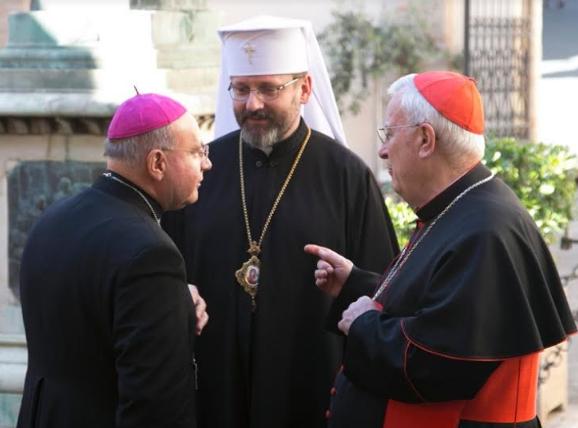 Президент Єпископської конференції Італії привітав Главу УГКЦ з ювілеєм інтронізації
