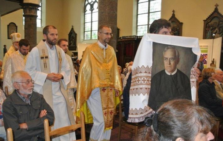 Владика Борис (Ґудзяк) очолив Святу Літургію на святкуванні стоп'ятдесятиріччя редемпториста отця Ахіля Деряре