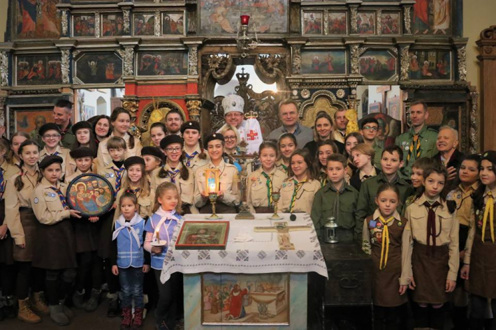 Владика Володимир Ґруца молився із пластунами