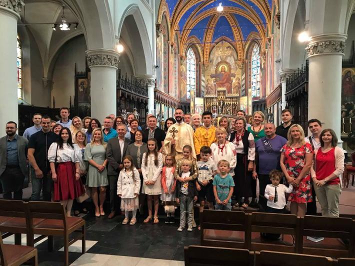 Першою Божественною Літургією розпочалася духовна мандрівка новоствореної української громади м. Ґент