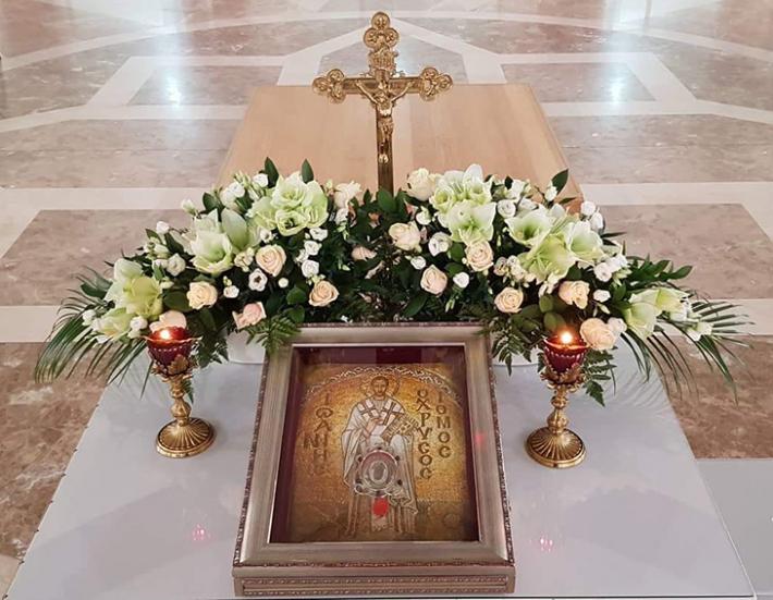 У Патріаршому соборі виставили для почитання мощі святого Івана Золотоустого