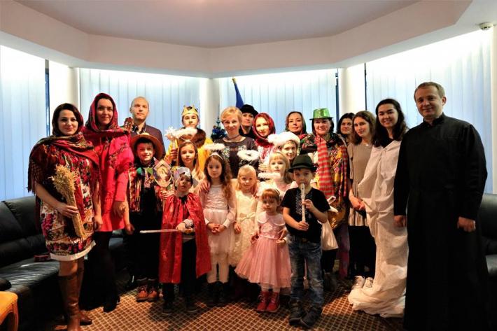 Церковна коляда в українському посольстві Угорщини