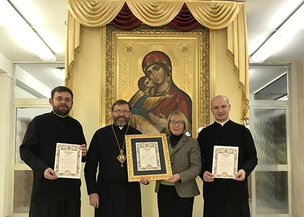 Глава УГКЦ у Римі вручив грамоти за організацію папського візиту до собору Святої Софії