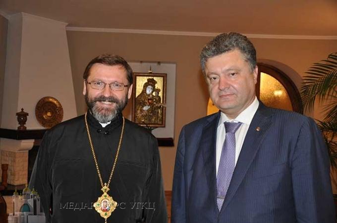 Президент України Петро Порошенко привітав Блаженнішого Святослава з днем народження