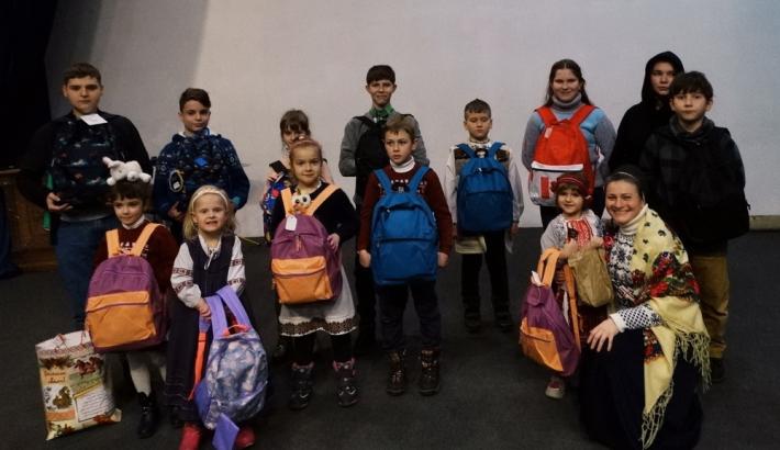 Родини переселенців з Донбасу зустрілися на святі розколяди в Брюховичах