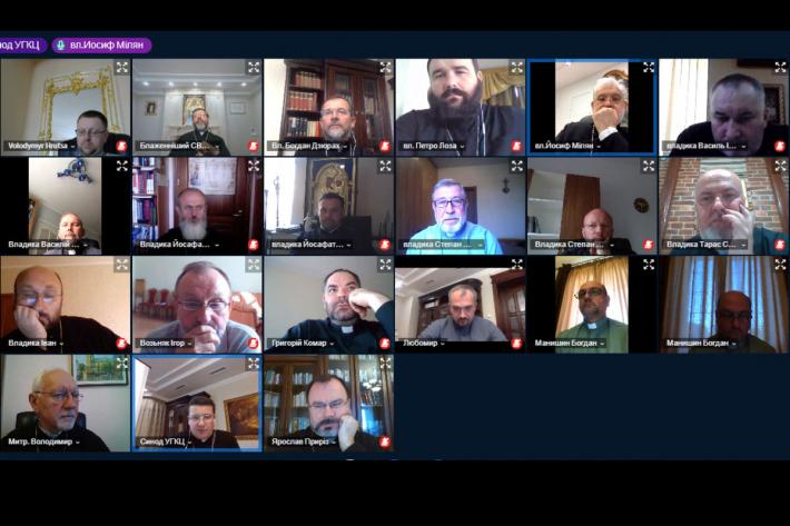 Владики Києво-Галицького Верховного Архиєпископства провели онлайн-зустріч із Блаженнішим Святославом