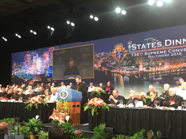 Промова Блаженнішого Святослава на States Dinner «Лицарів Колумба»