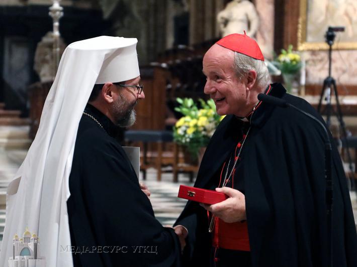 Кардинал Шенборн став першим кавалером найвищої нагороди УГКЦ — Ордена митрополита Андрея Шептицького