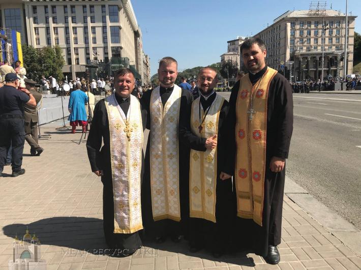 Військові капелани УГКЦ вперше взяли участь військовому параді до Дня Незалежності України