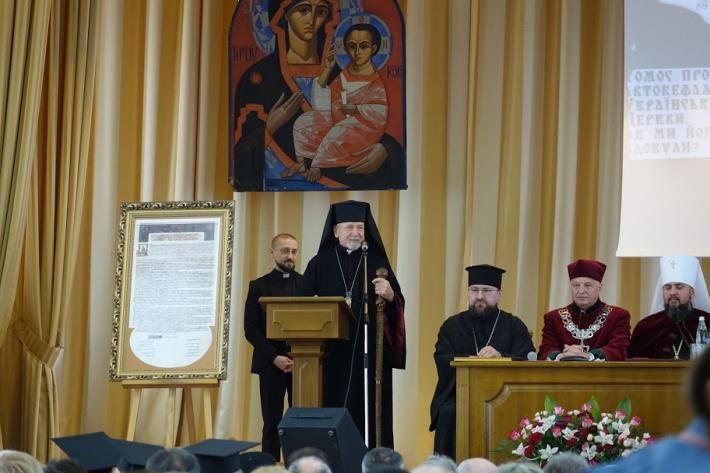«Ми втішаємося тим, що Україна нас єднає», – владика Михайло Колтун на спільній із Митрополитом Епіфанієм конференції «Томос і Україна»