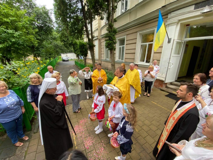 У львівській спеціальній школі Марії-Покрови звершили благословення каплиці