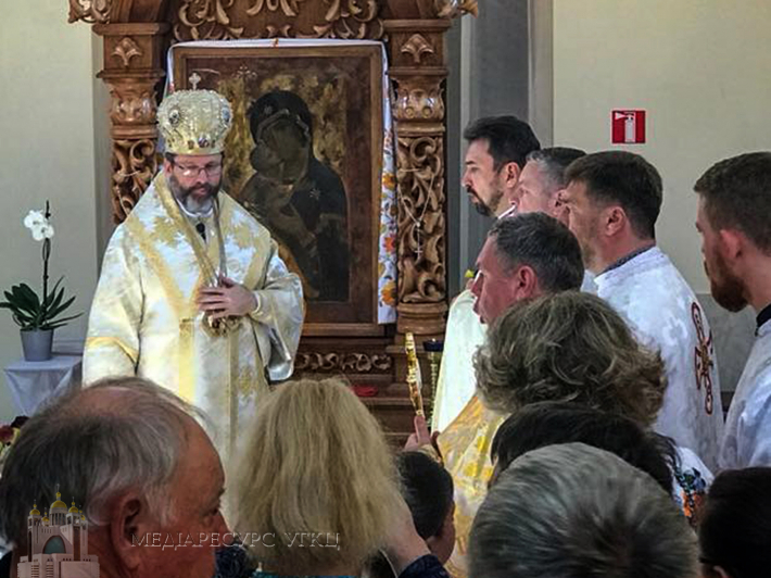 """Блаженніший Святослав у Вишгороді: """"Ми зараз стоїмо перед цією іконою в особливий момент нашої історії"""""""
