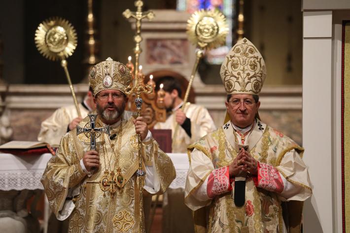 «За цим престолом стояв мій попередник – митрополит київський Ісидор», – Глава УГКЦ в катедральному соборі Флоренції